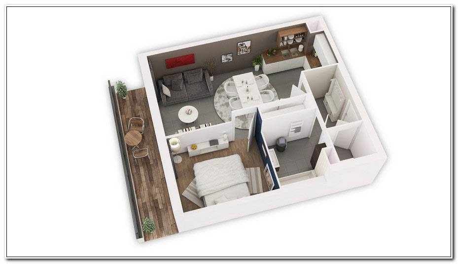 Plan Am%C3%A9Nagement Studio 30m2