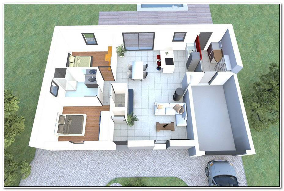 Plan Maison 2 Chambres