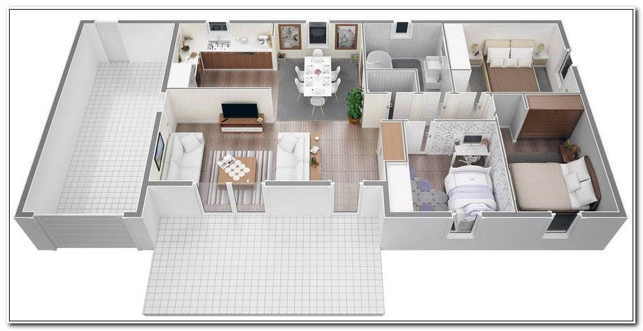 Plan Maison Moderne 3 Chambres