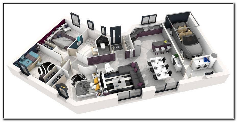 Plan Maison Moderne 3d