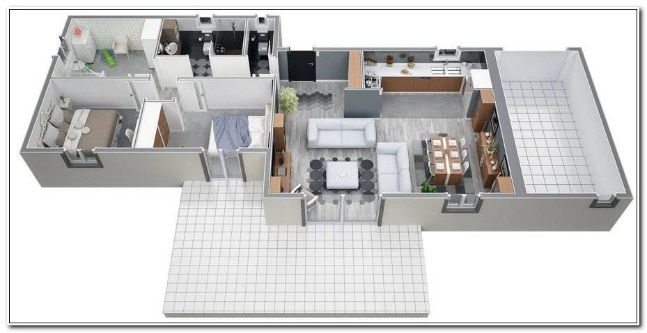 Plan Maison Plain Pied 120m2 4 Chambres