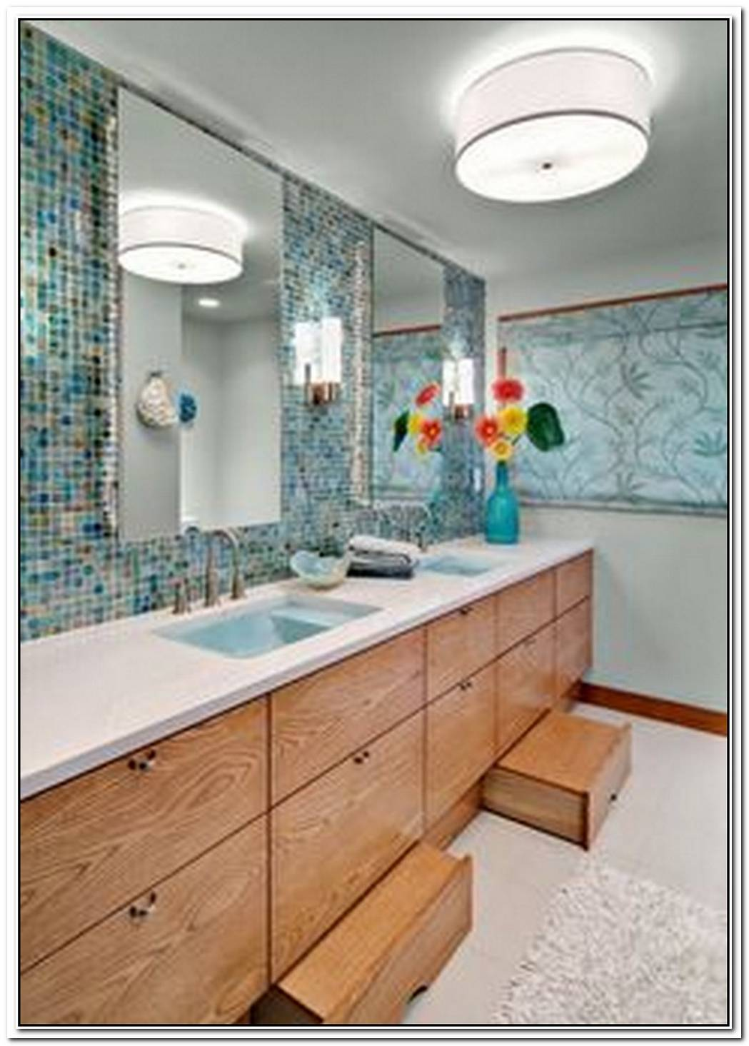 Playful Meets Sophisticated In This Stylish Childrens' Bathroom