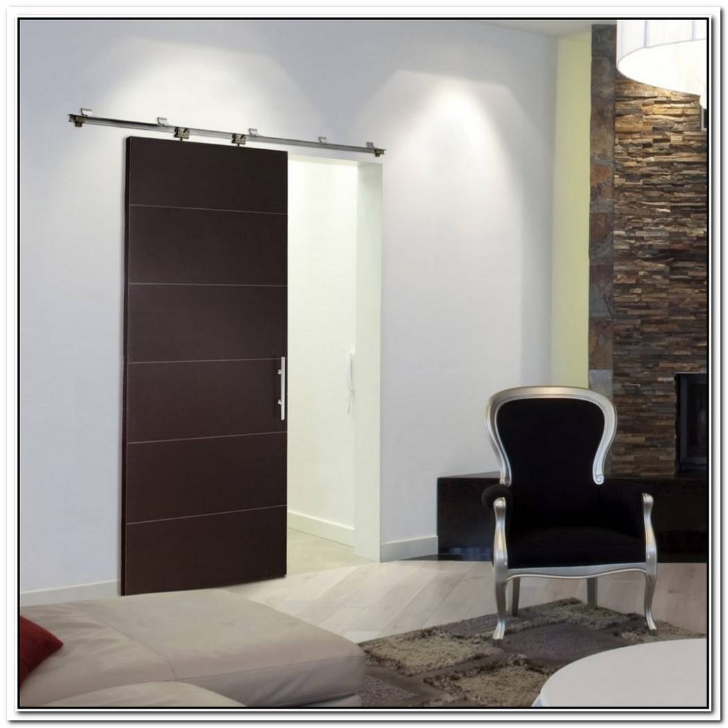 Pocket Door Bathroom Concrete Wall