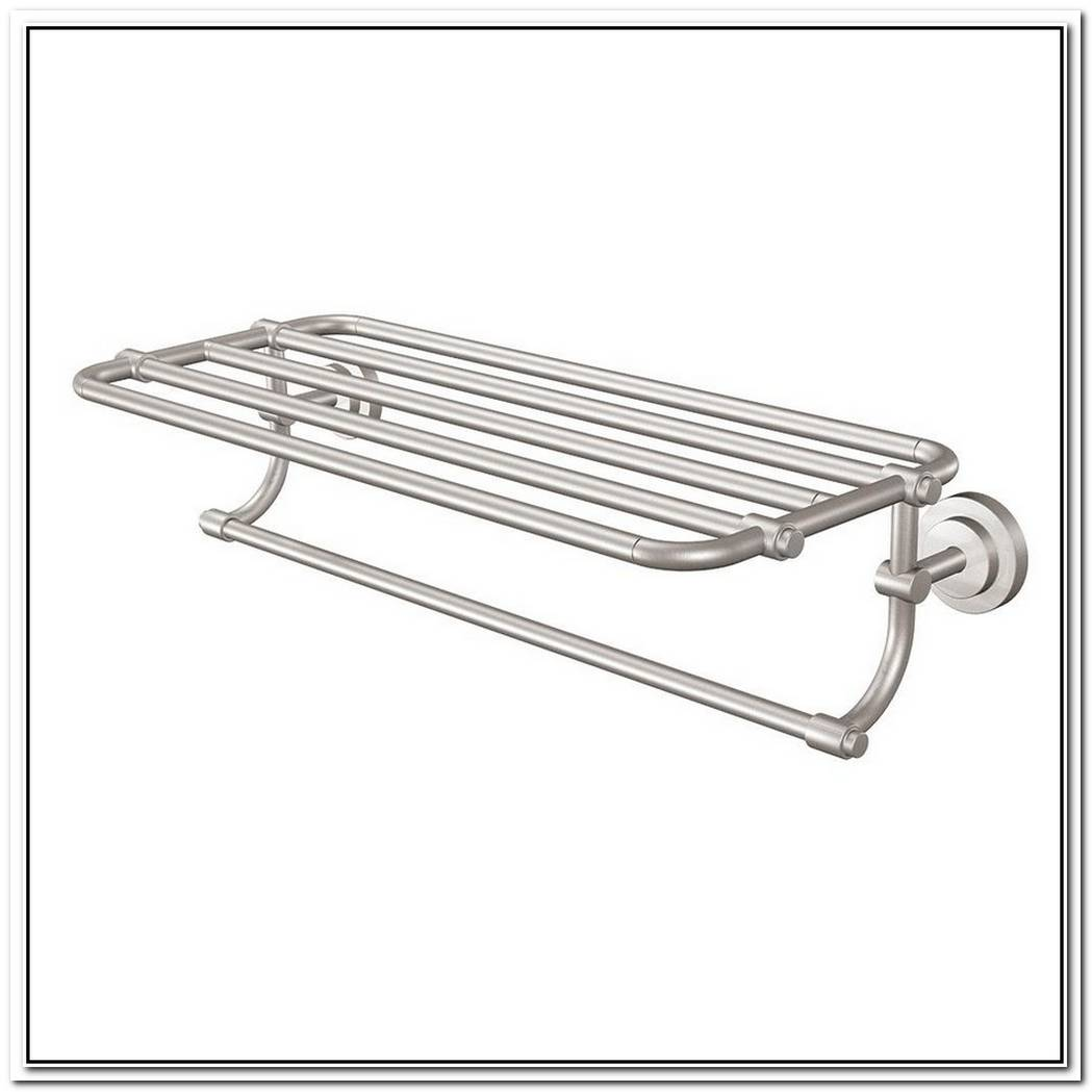 Polished Nickel Bathroom Towel Rack