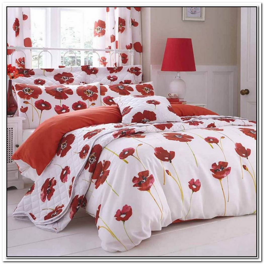 Poppies Red Bedding By Revelle