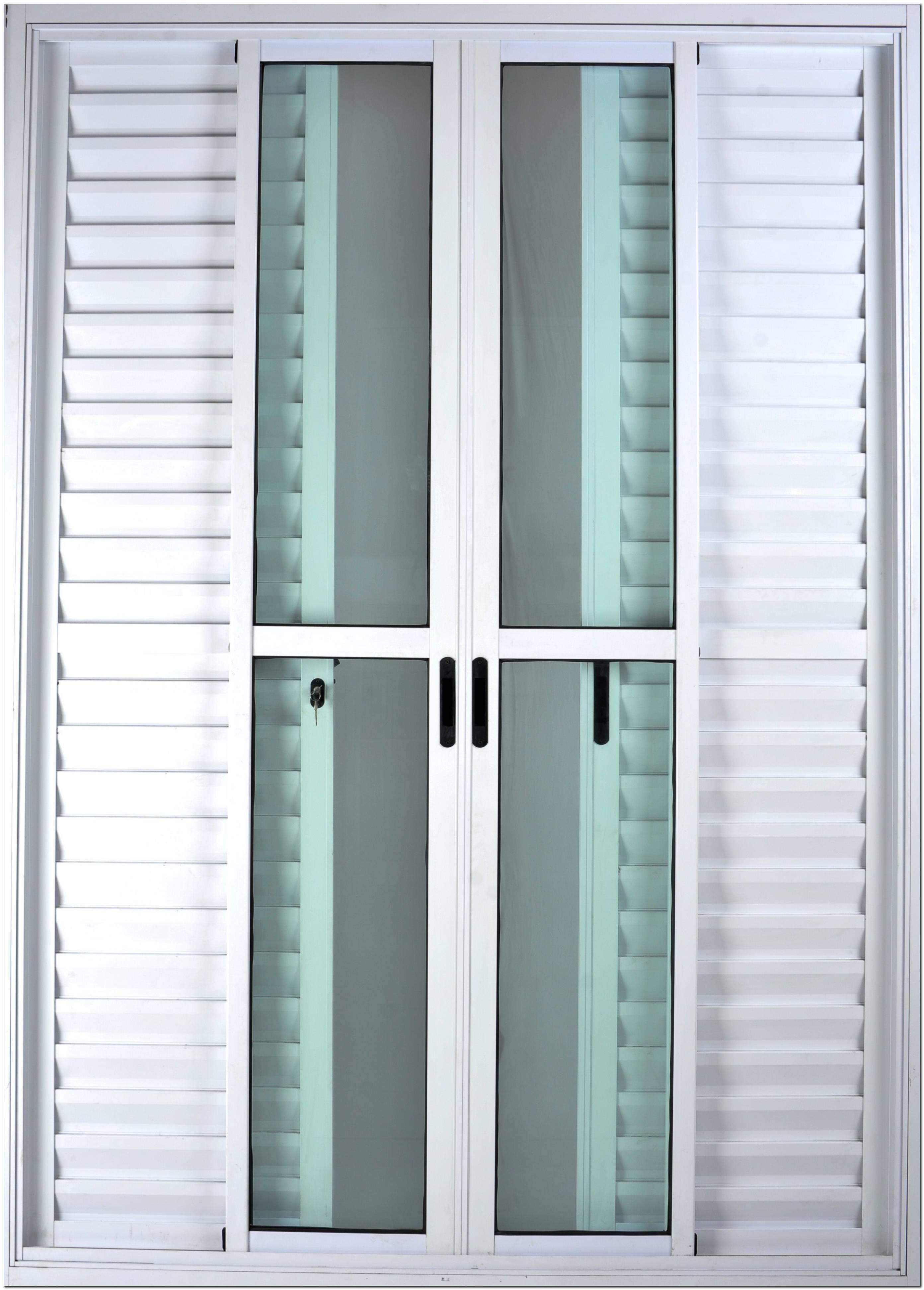 Porta Balcão De Aluminio Branco