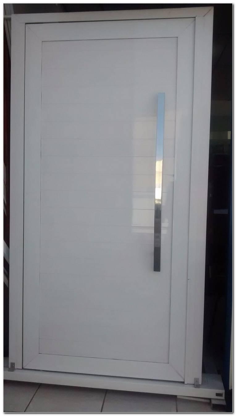 Porta De Aluminio Branco Para Sala
