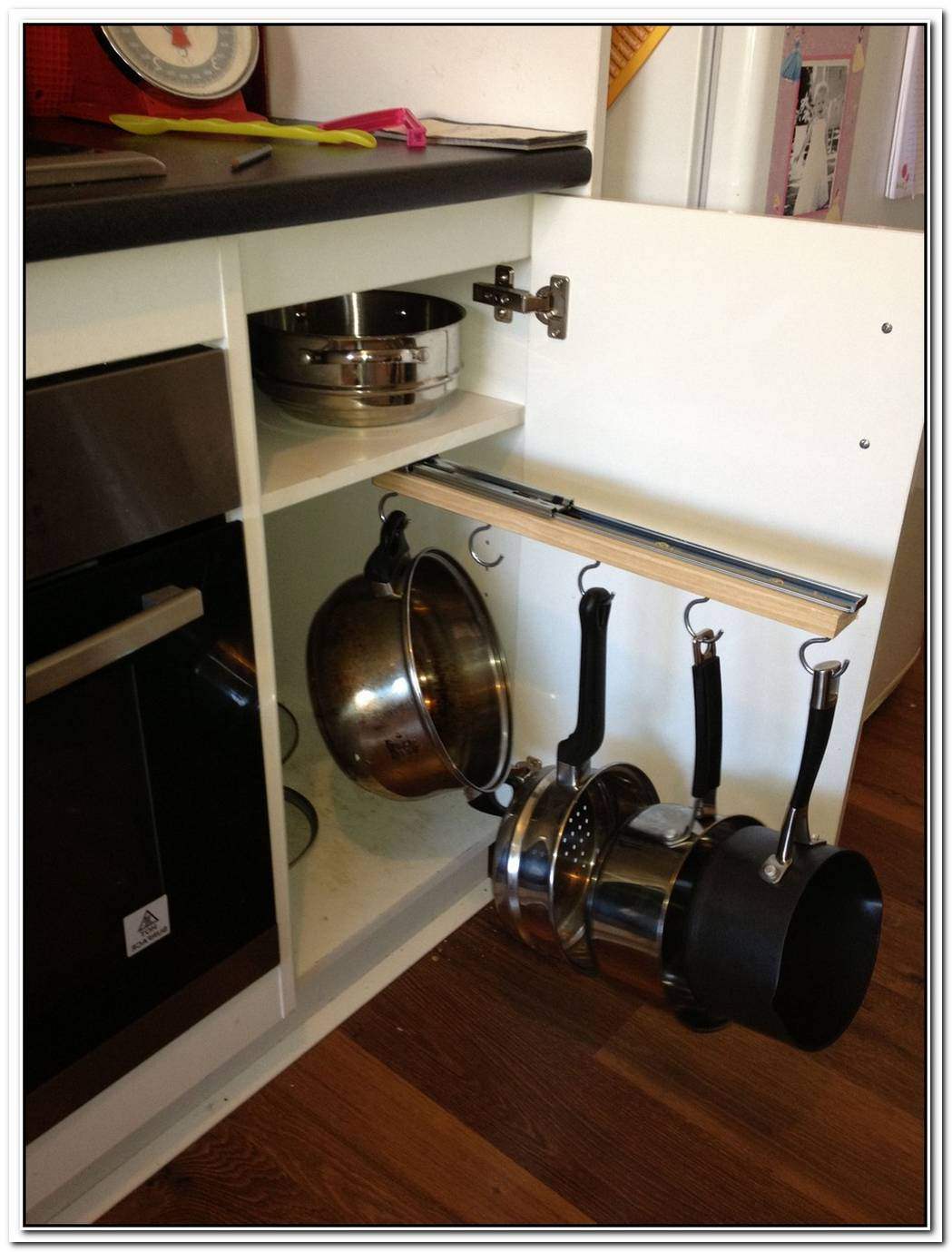 Practical Diy Cabinet Pan Rack
