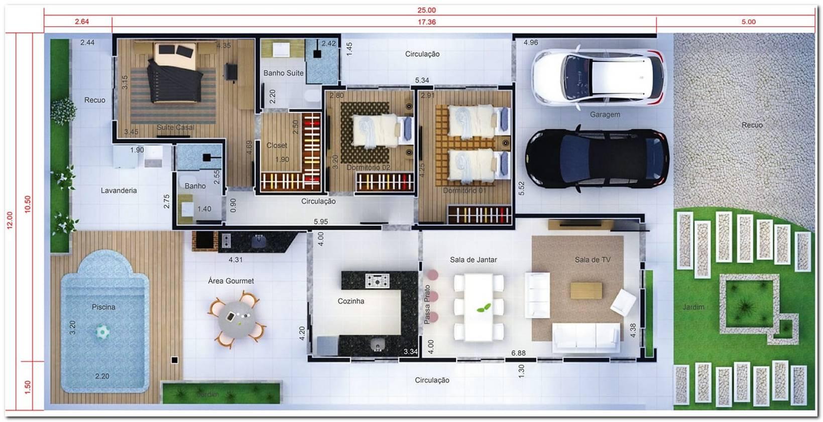 Projetos De Casas 3 Quartos