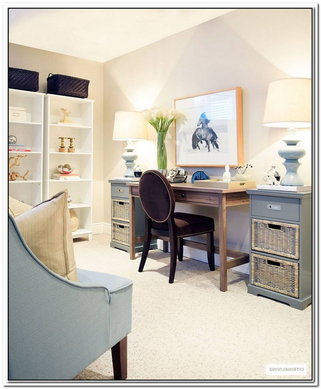 Proof That You Don'T Need Much To Create A Charming Office Nook
