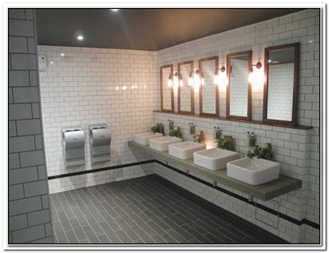Public Bathroom Tiled
