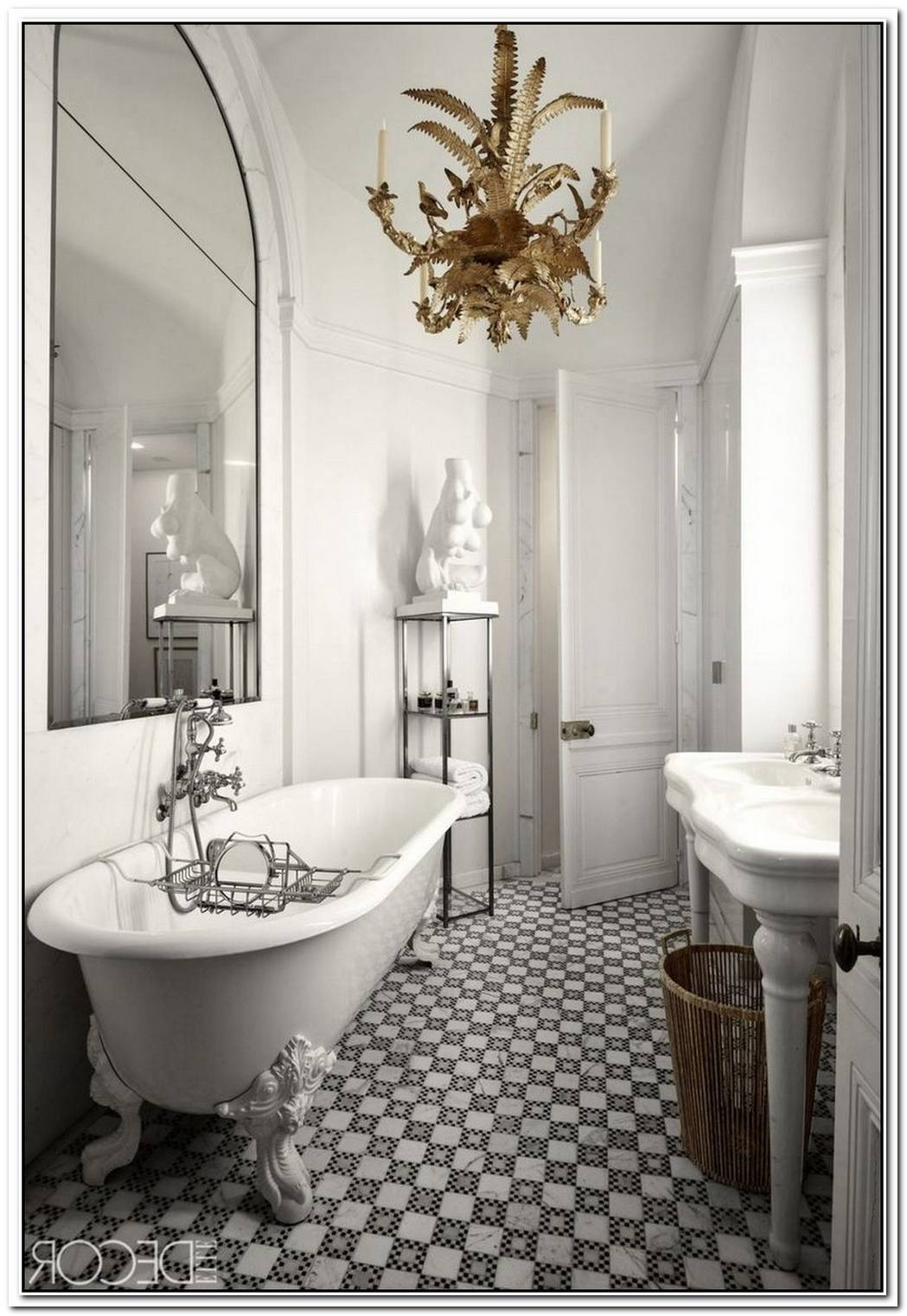 Punctuate Your Bathroom Design With A Geometric Chandelier