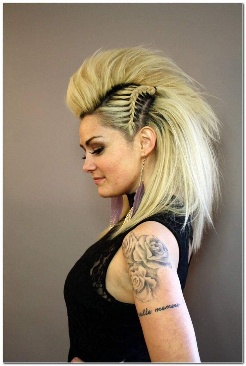 Punk Frisuren Damen Lange Haare