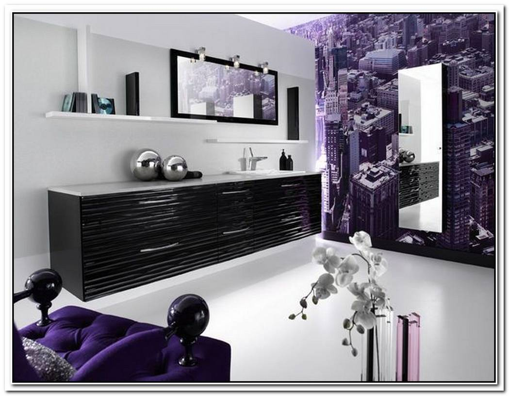 Purple Luxury Minimalist Bathroom