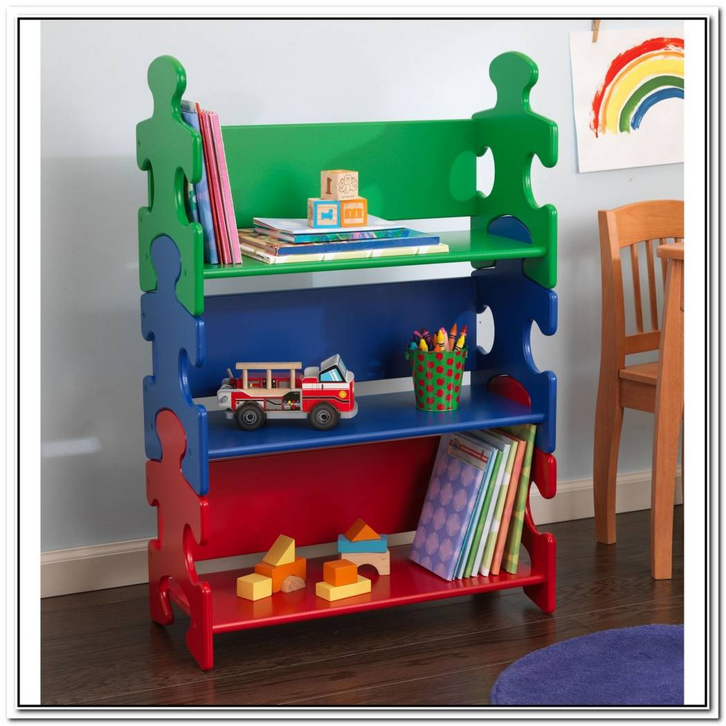 Puzzle Bookshelf For Kids