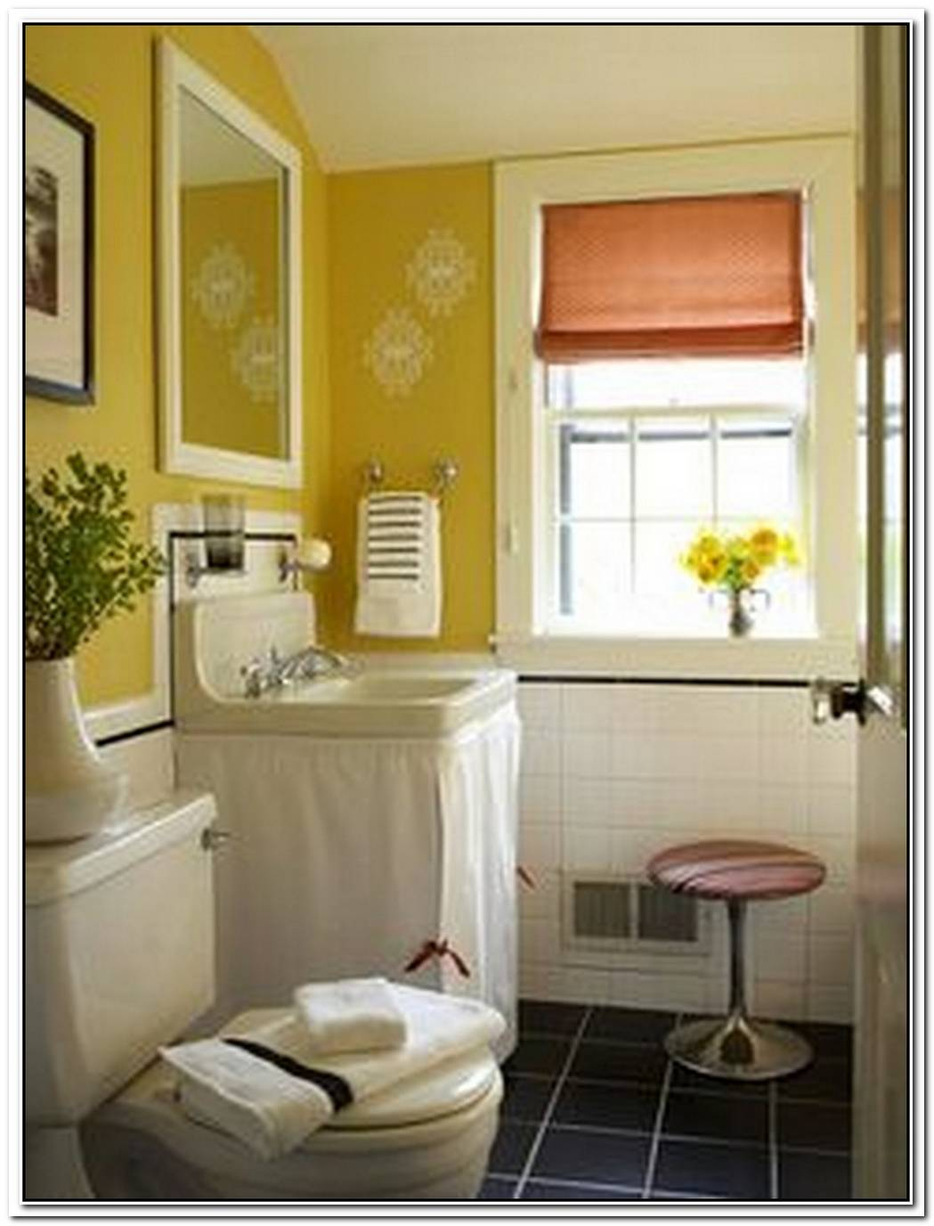 Remodel Yellow Bathroom Small