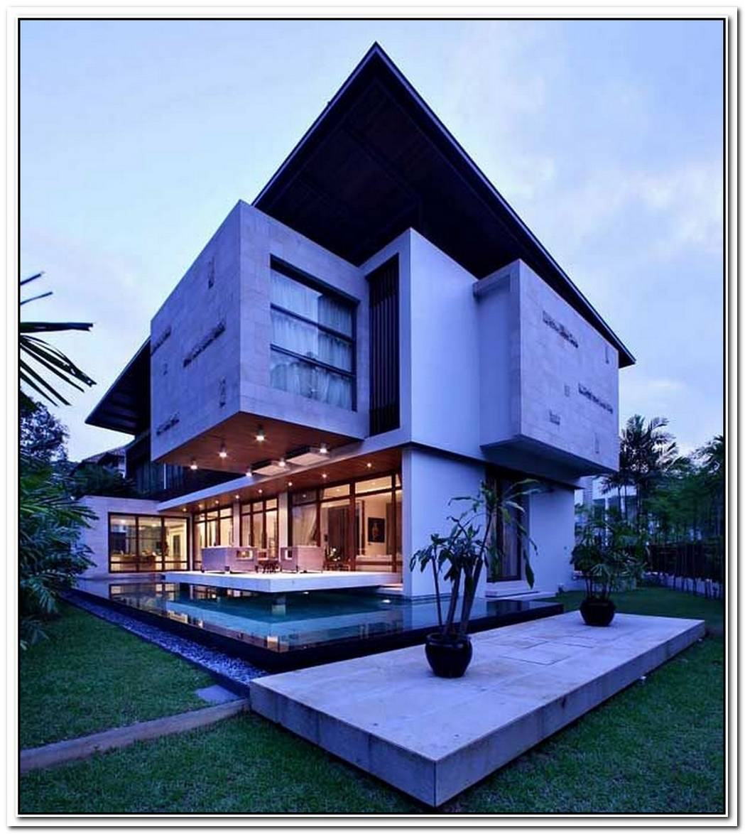 Resort Villa In The Frontcontemporary Home In The Back