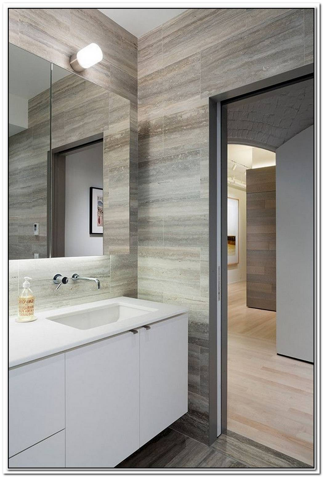 Restrooms Travertine Bathroom Modern