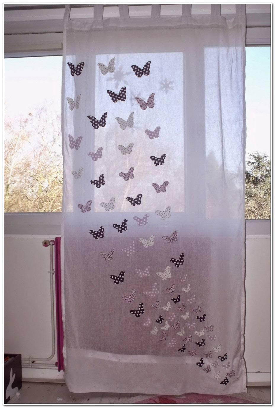 Rideau Papillon Chambre Fille