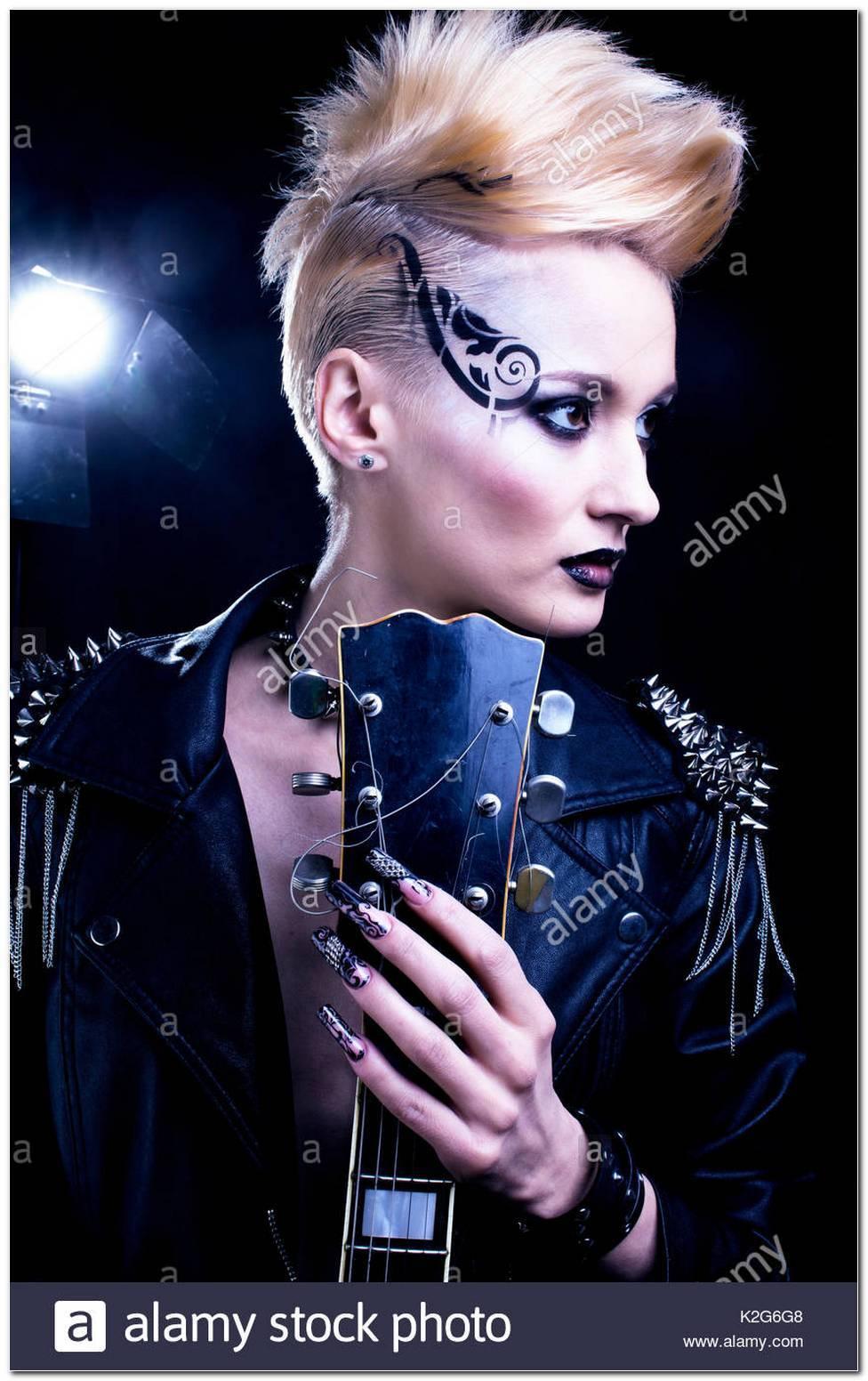 Rocker Frisur Frau