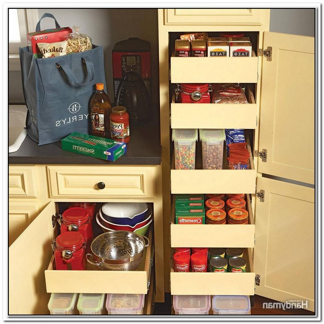 Rollout Drawers Solution For Saving Space In Your Kitchen