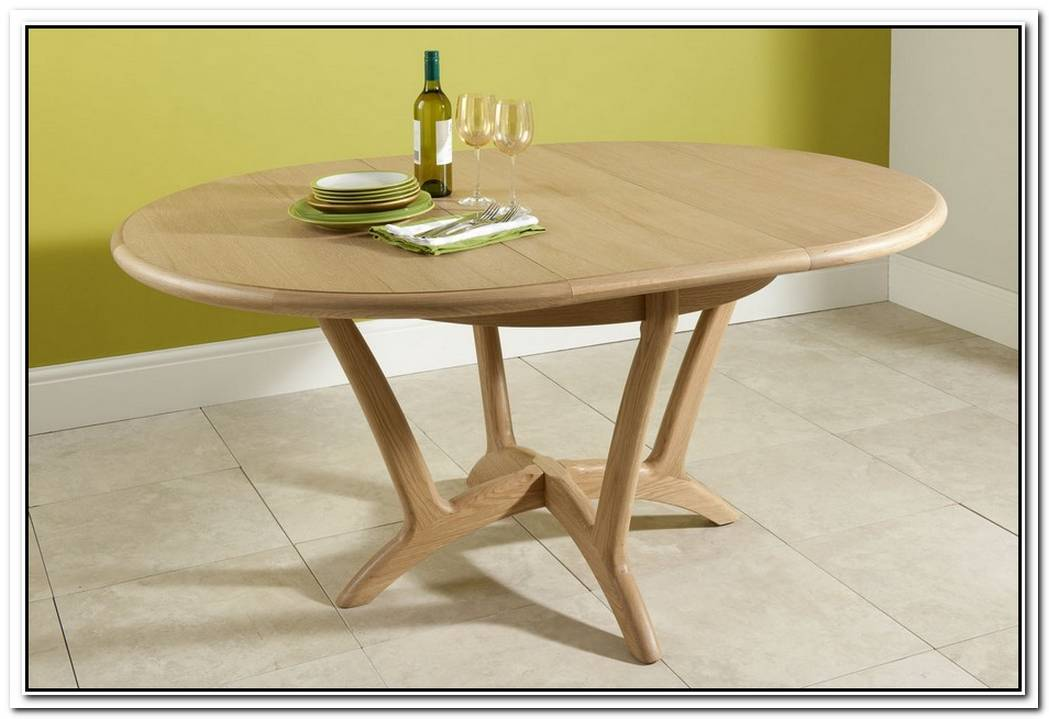 Round Wooden Extending Table