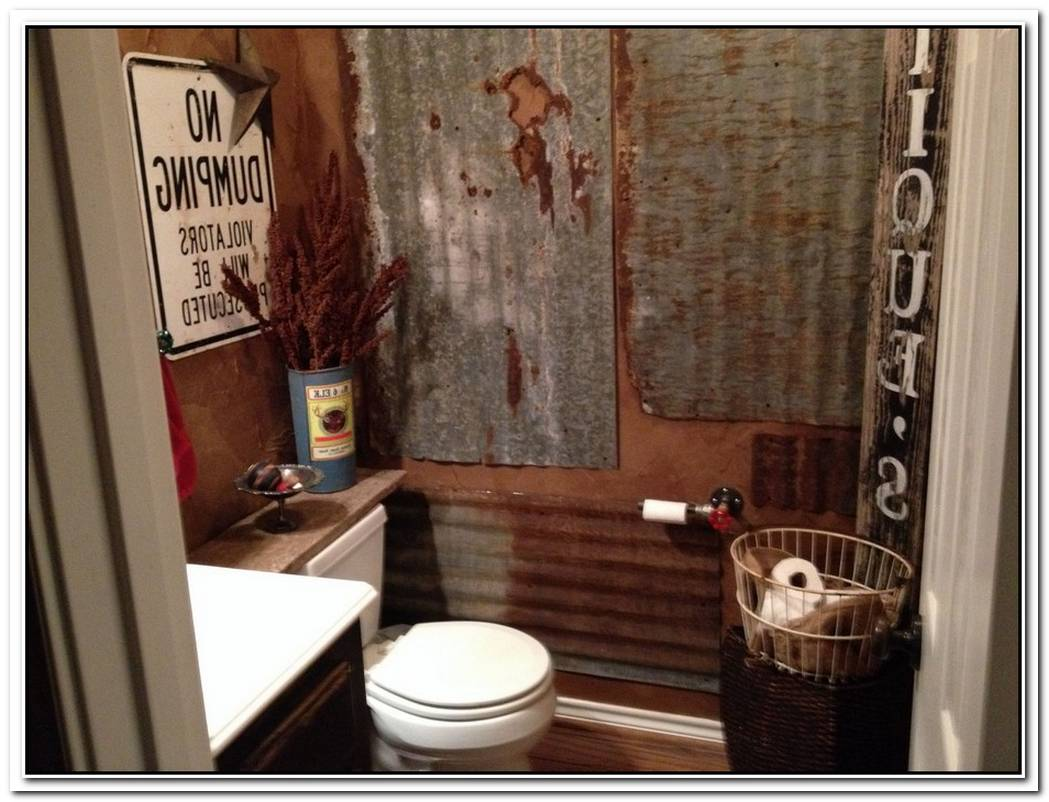 Rustic Bathroom Half