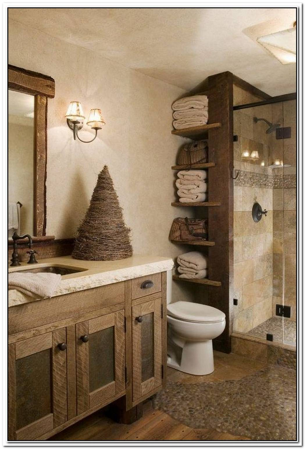 Rustic Contemporary Bathroom Cozy