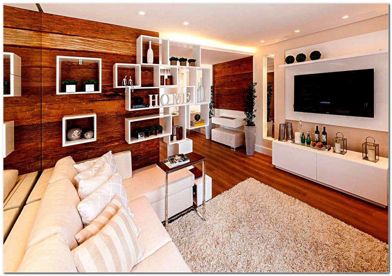 Sala De Apartamento Com Painel De Tv
