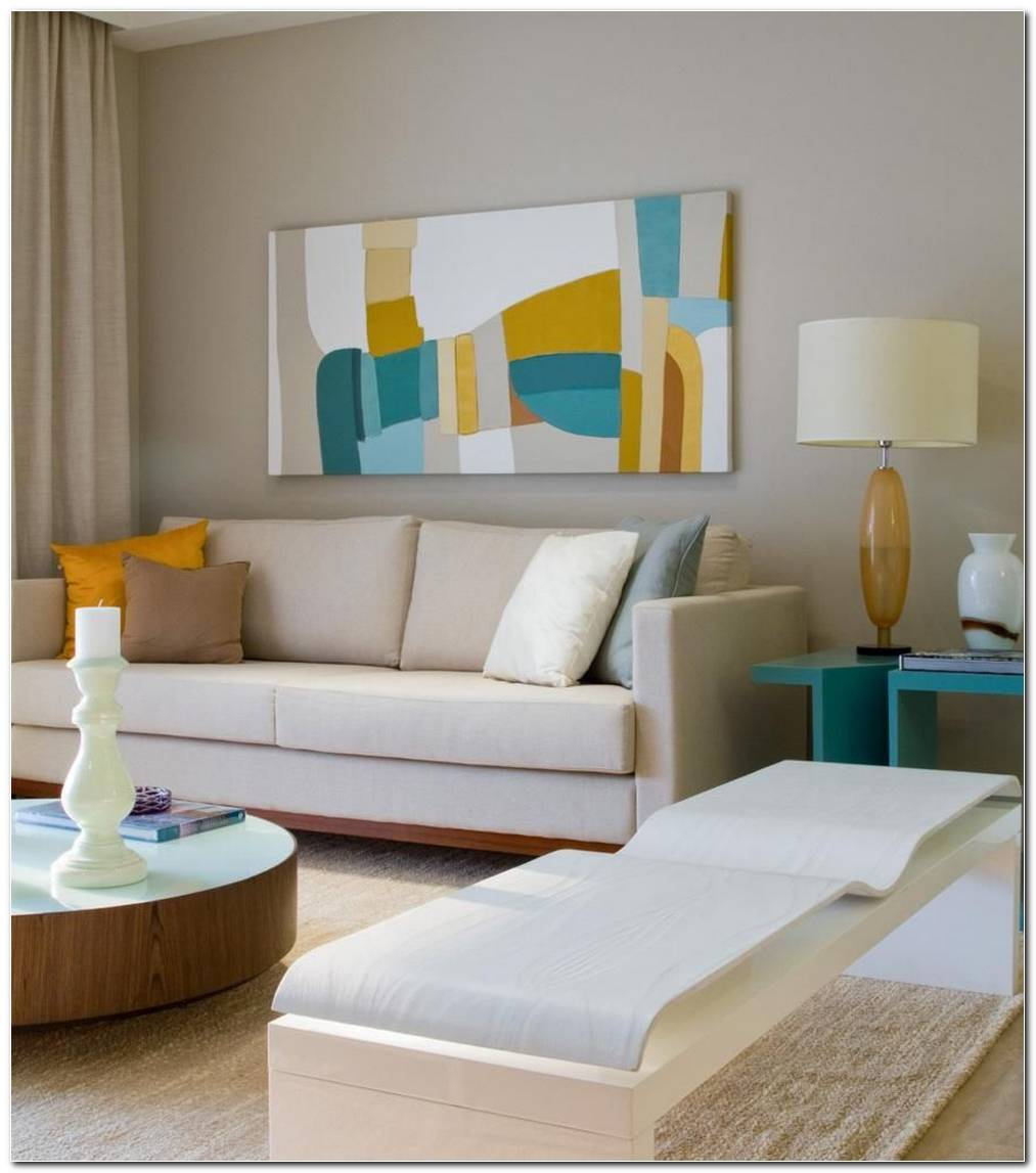 Sala De Estar Amarela E Azul