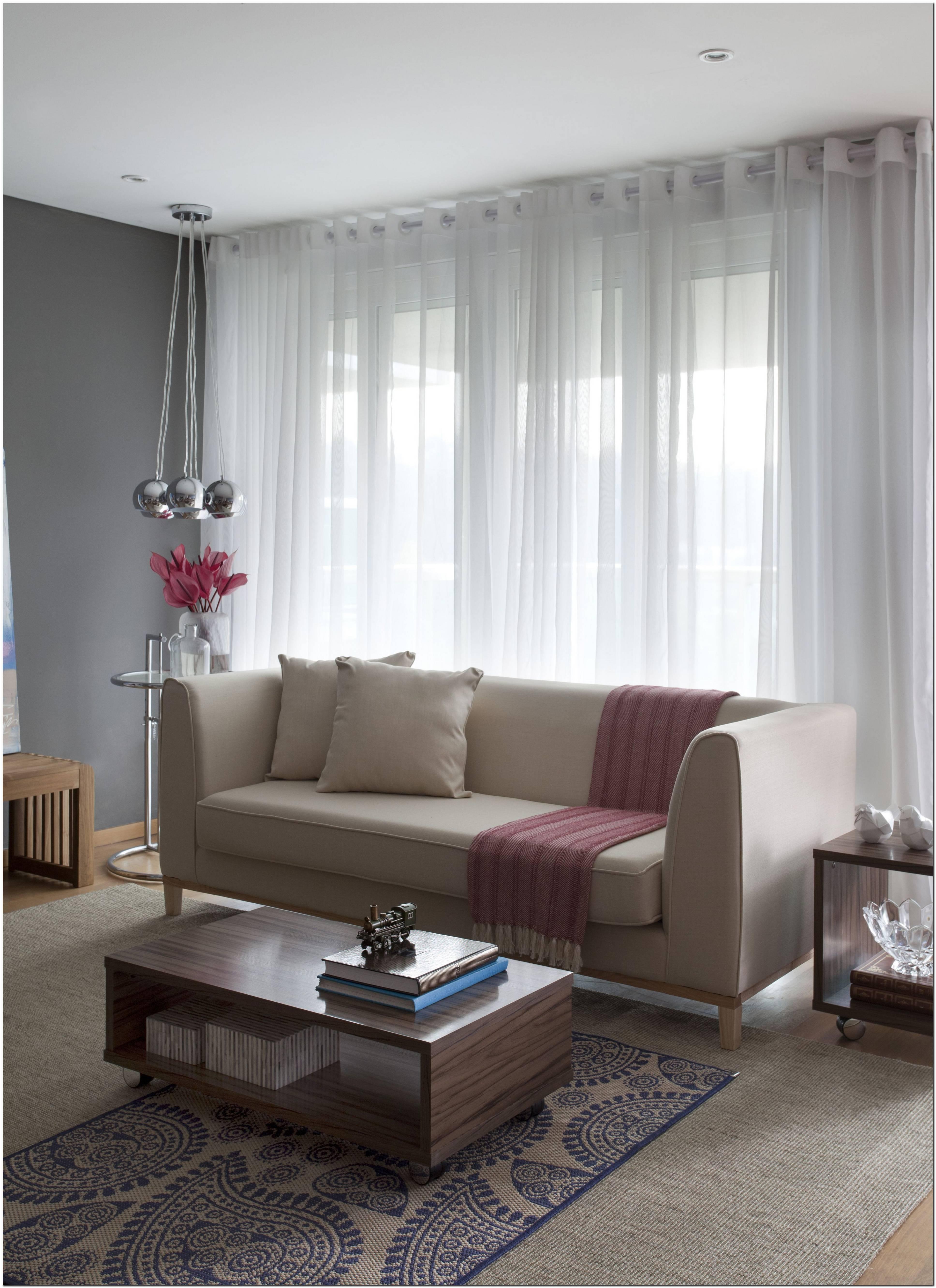 Sala De Estar Com Um Sofa