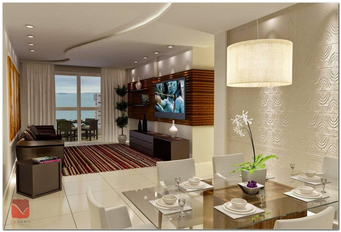 Sala De Estar E Jantar Integradas Apartamento Pequeno