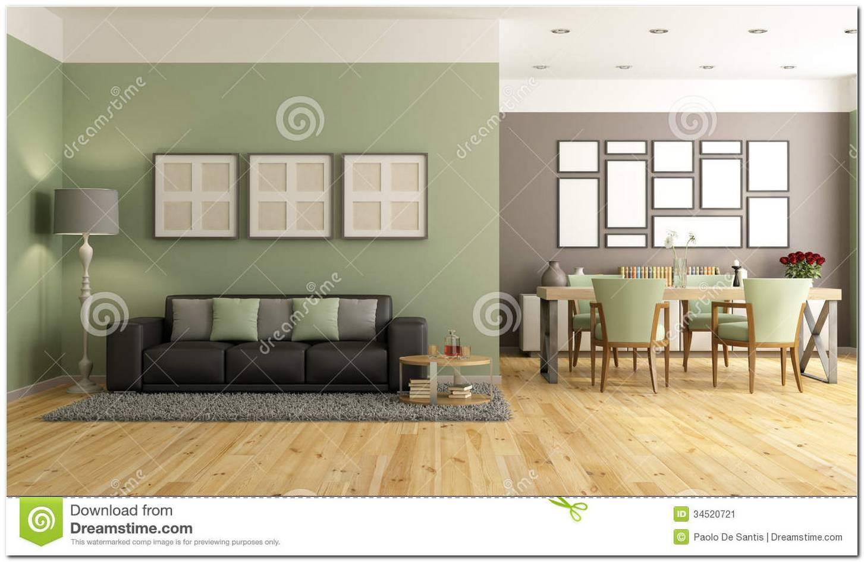 Sala De Estar Em Verde