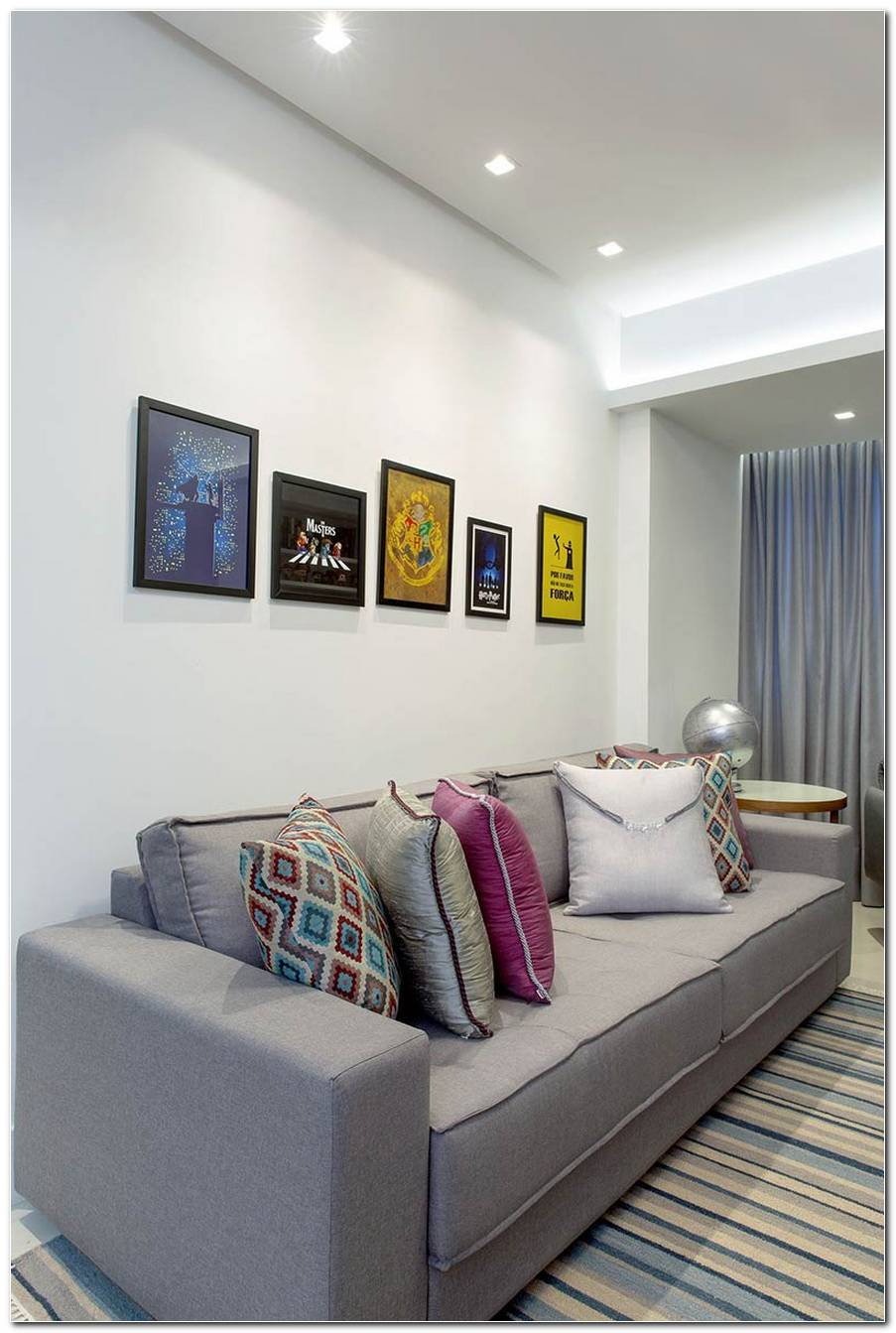 Sala De Estar Grande E Simples