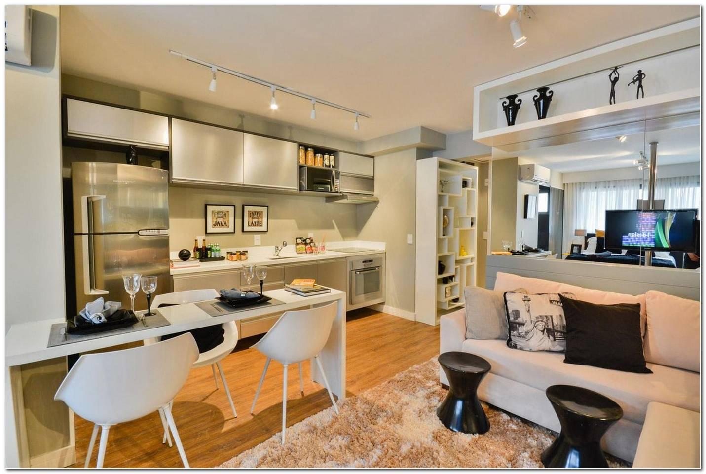 Sala De Estar Integrada Com Cozinha