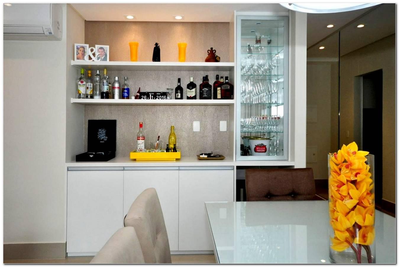 Sala De Estar Moderna Con Bar