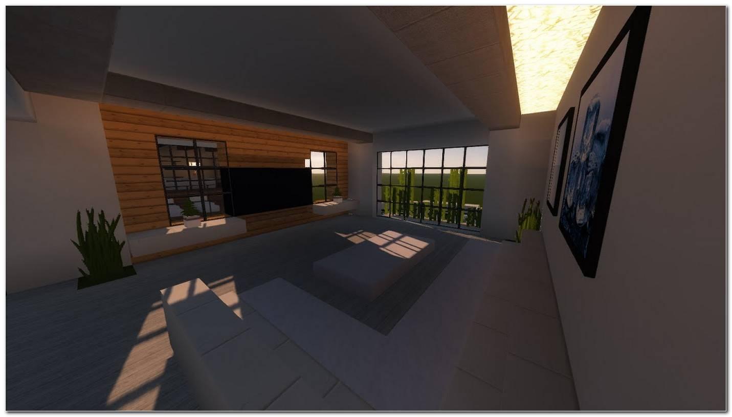 Sala De Estar Moderna Minecraft