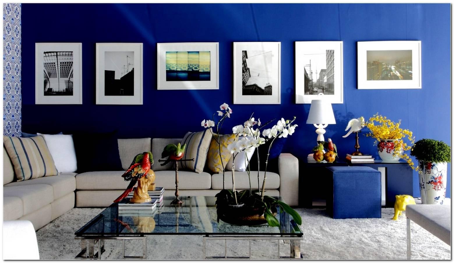 Sala De Estar Na Cor Azul