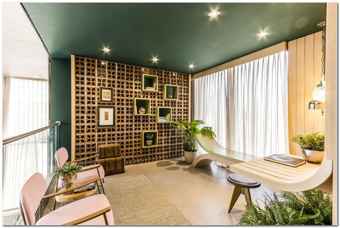 Sala De Estar Parede Verde Musgo