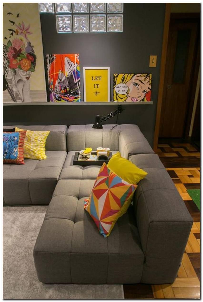 Sala De Estar Pequena Apartamento Sofa De Canto