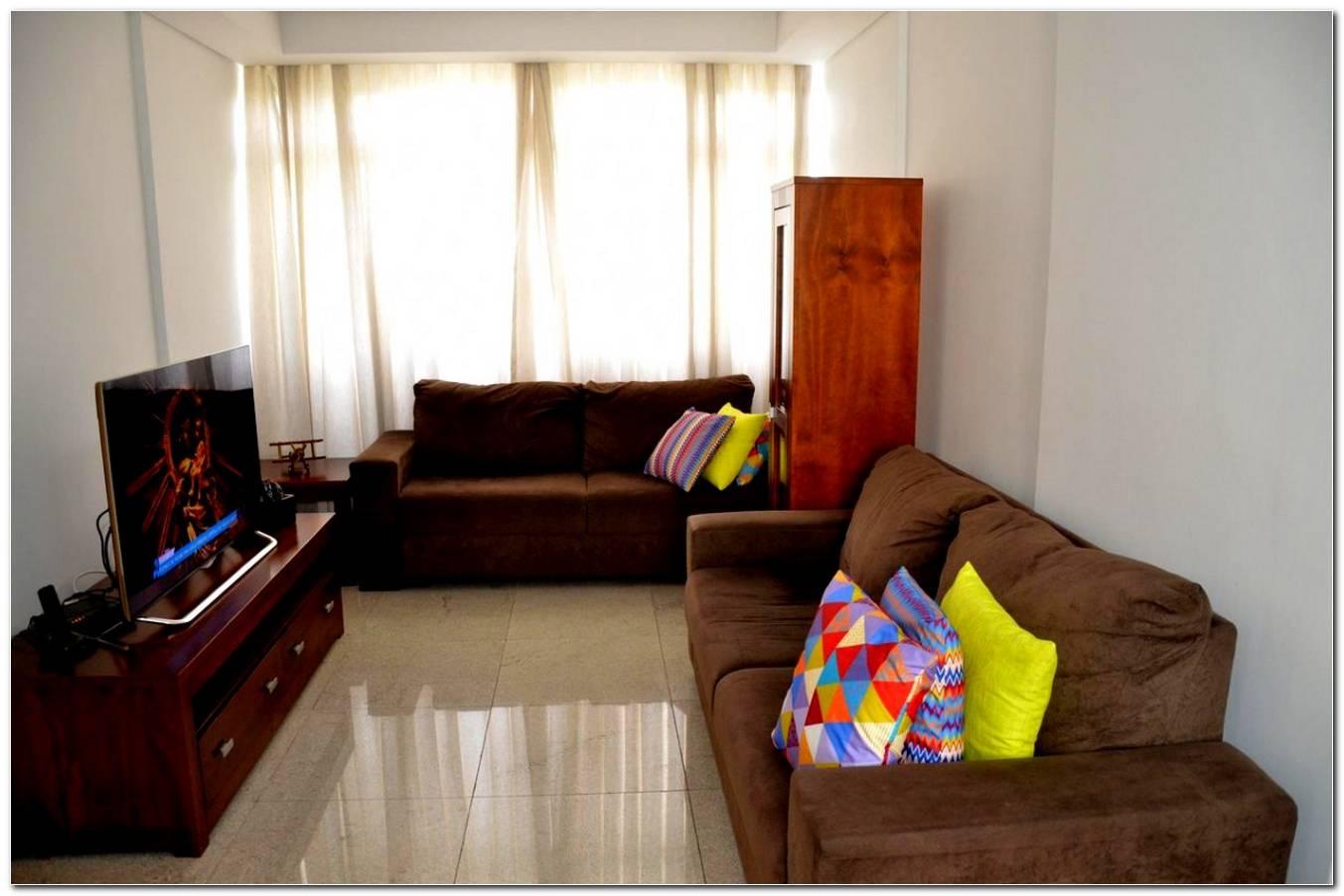 Sala De Estar Pequena Com Sofa Marrom