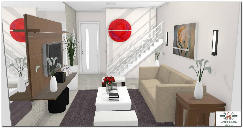 Sala De Estar Pequena E Moderna