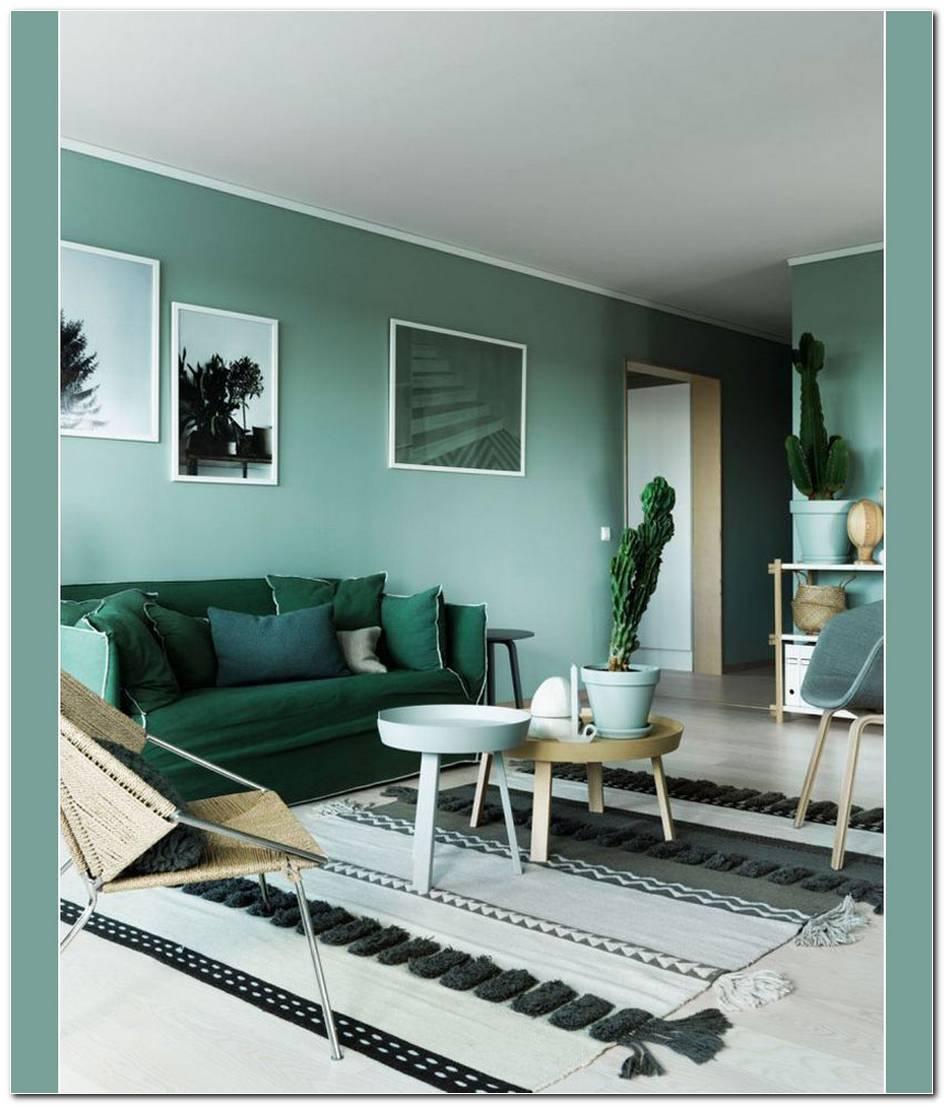 Sala De Estar Pintada De Verde