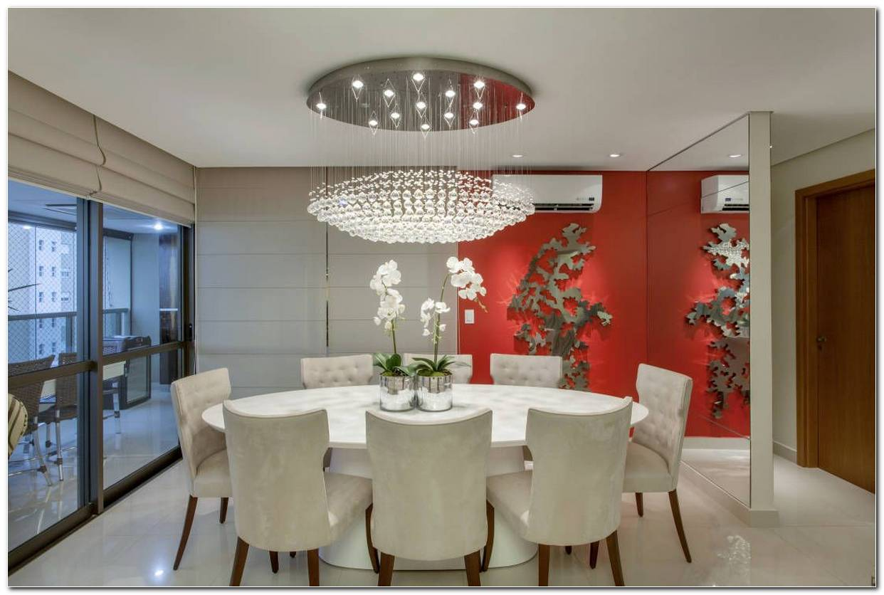 Sala De Jantar Branca De Luxo
