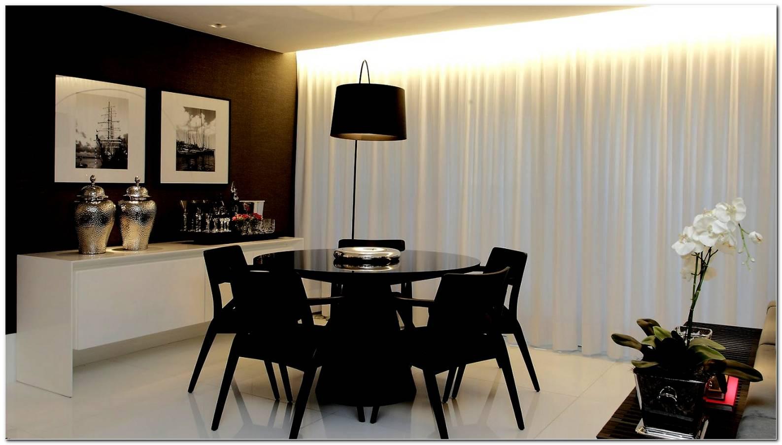 Sala De Jantar Branco E Preto