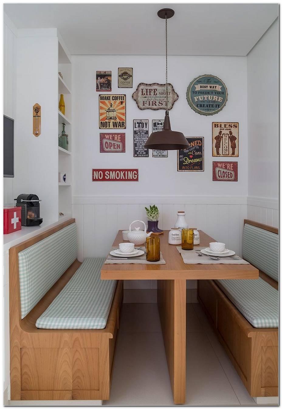 Sala De Jantar Com Banco Estofado
