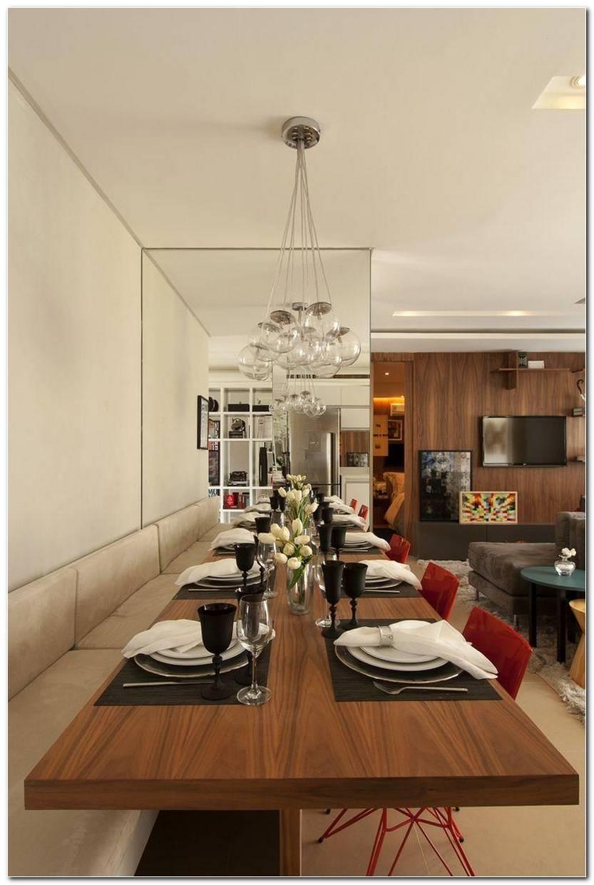 Sala De Jantar Com Espelho Grande
