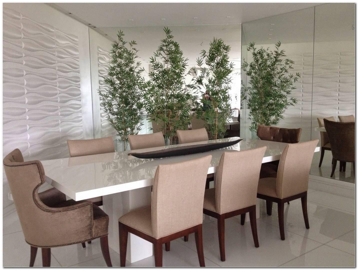 Sala De Jantar Com Mesa De Resina Branca