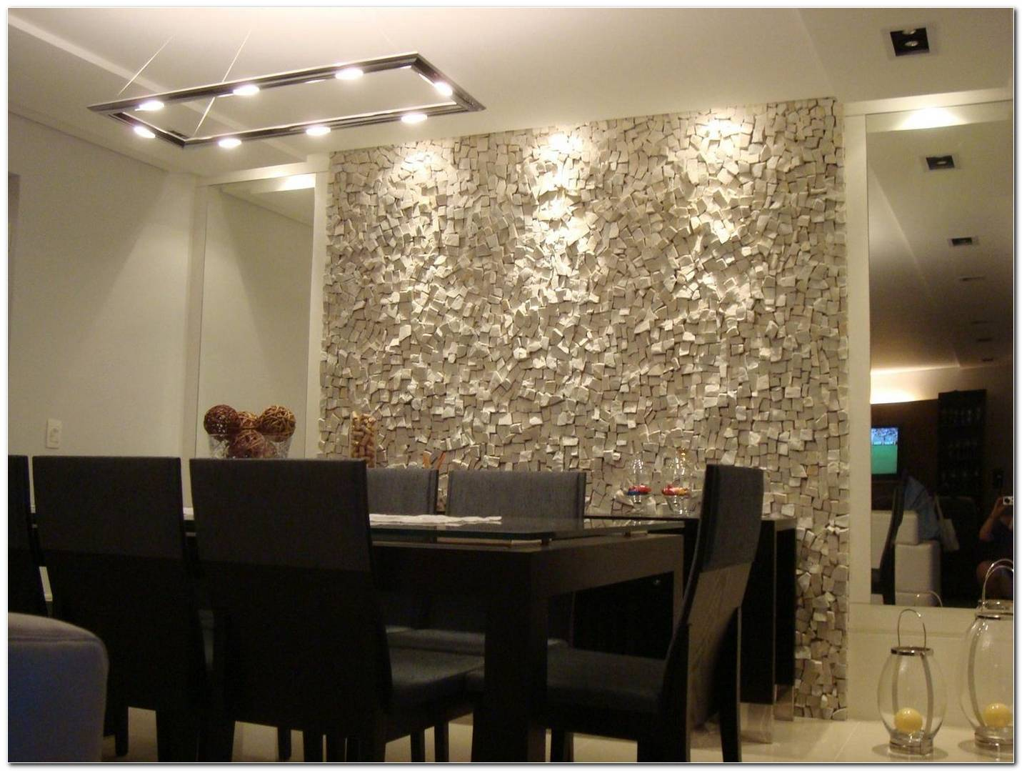 Sala De Jantar Com Mesa Preta