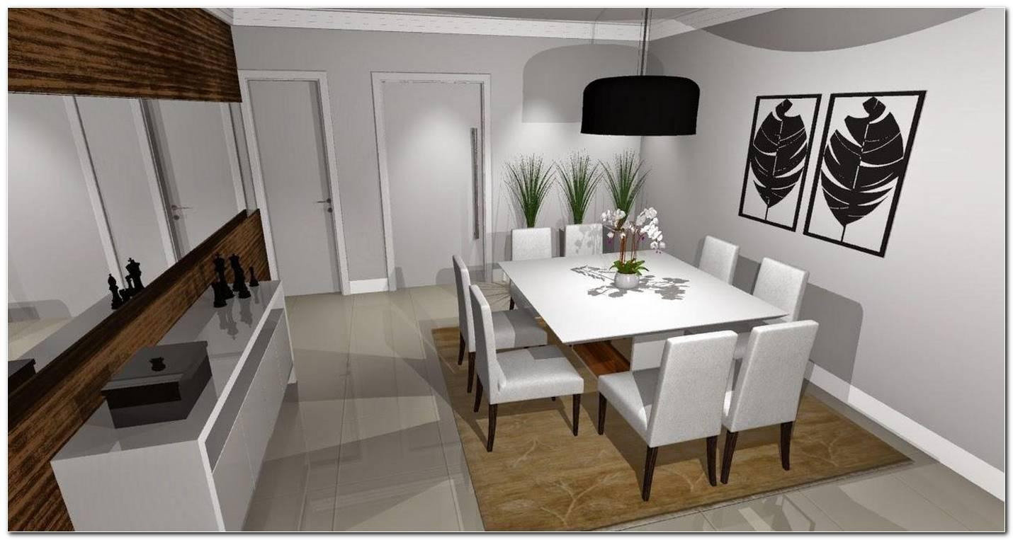 Sala De Jantar Com Preto